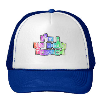 Bright Colors 4th Grade Teacher Hat