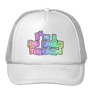 Bright Colors 4th Grade Teacher Mesh Hat