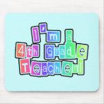 Bright Colors 4th Grade Teacher Mousepad