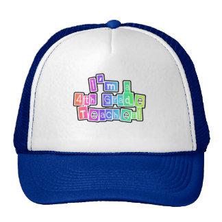 Bright Colors 4th Grade Teacher Trucker Hat