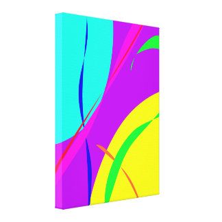 Bright Colors Abstract Design Canvas Print