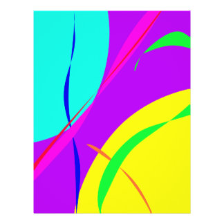 Bright Colors Abstract Design Full Color Flyer