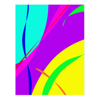Bright Colors Abstract Design Postcard