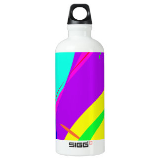 Bright Colors Abstract Design Water Bottle