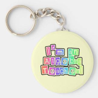 Bright Colors Algebra Teacher Basic Round Button Keychain