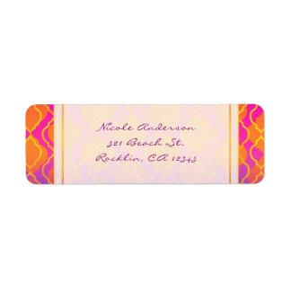 Bright Colors Arabian Moroccan Glam Invitation Label