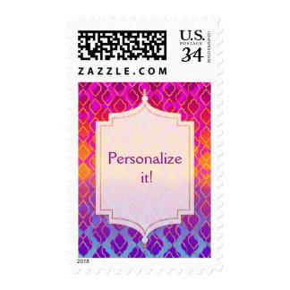 Bright Colors Arabian Moroccan Glam Invitation Postage
