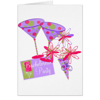 Bright Colors Bachelorette Party Greeting Card