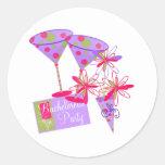 Bright Colors Bachelorette Party Stickers
