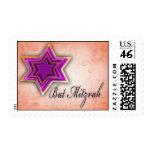Bright colors Bat Mitzvah stamp