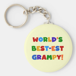 Bright Colors Best-est Grampy T-shirts and Gifts Basic Round Button Keychain