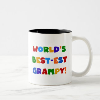 Bright Colors Best-est Grampy T-shirts and Gifts Two-Tone Coffee Mug