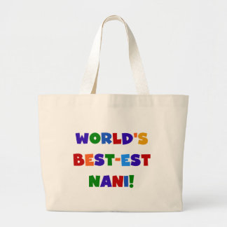 Bright Colors Best-est Nani T-shirts and Gifts Large Tote Bag
