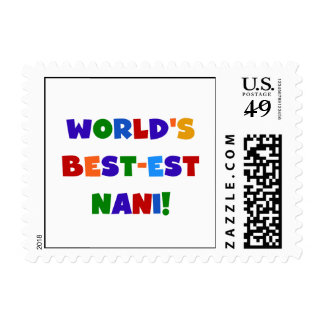 Bright Colors Best-est Nani T-shirts and Gifts Stamps