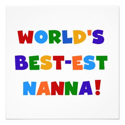 Bright Colors Best-est Nanna Tshirts Custom Invitations