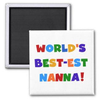 Bright Colors Best-est Nanna Tshirts Magnet