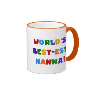 Bright Colors Best-est Nanna Tshirts Ringer Coffee Mug