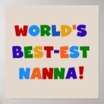 Bright Colors Best-est Nanna Tshirts Print