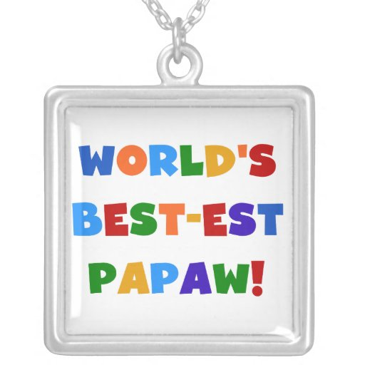 Bright Colors Best-est Papaw Tshirts and Gifts Custom Necklace
