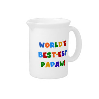 Bright Colors Best-est Papaw Tshirts and Gifts Drink Pitchers