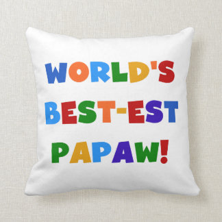 Bright Colors Best-est Papaw Tshirts and Gifts Throw Pillow