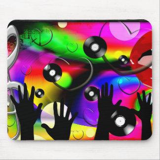 Bright Colors Disco Club Scene-mousepad