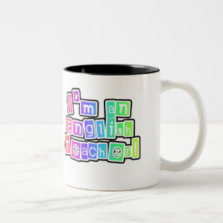 Bright Colors English Teacher Two-Tone Coffee Mug