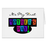 Bright Colors First Mother's Day T-shirts and Gift Card