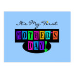 Bright Colors First Mother's Day T-shirts and Gift Post Card