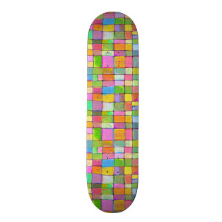 Bright colors fun colorful abstract painting art skate board decks