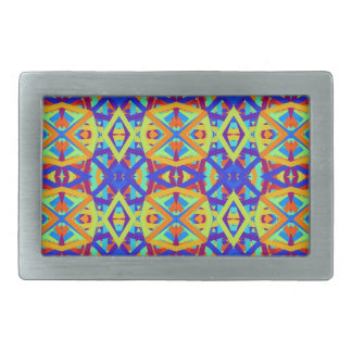 Bright Colors Fun Pattern Belt Buckle