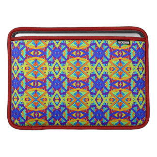 Bright Colors Fun Pattern MacBook Sleeve