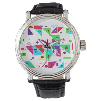 Bright Colors ! Geometric Shapes ! Wristwatch