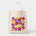 Bright Colors Hippie Flowers Tote Bag