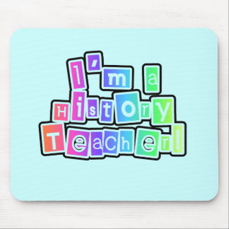 Bright Colors History Teacher Tshirts and Gifts Mousepad
