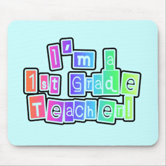 Bright Colors I'm a 1st Grade Teacher Mouse Pad