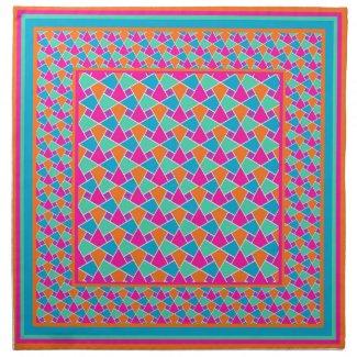 Bright Colors Islamic Pattern Cloth Napkins Napkins