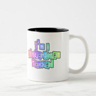 Bright Colors Kindergarten Teacher Two-Tone Coffee Mug