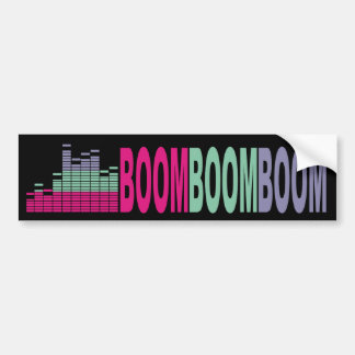Bright colors music bass sound 80s rock on audio bumper stickers