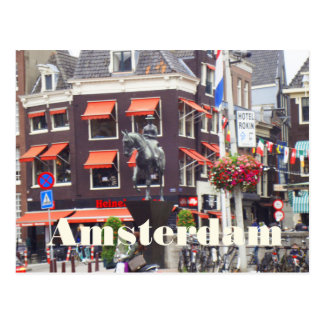 Bright Colors of Amsterdam Postcard