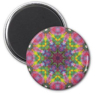 Bright Colors Paint Mandala Magnet