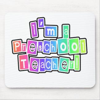 Bright Colors Preschool Teacher Mouse Pad