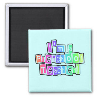 Bright Colors Preschool Teacher Tshirts and Gifts Magnet