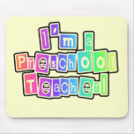 Bright Colors Preschool Teacher Tshirts and Gifts Mouse Pad