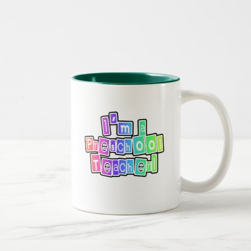 Bright Colors Preschool Teacher Tshirts and Gifts Coffee Mugs