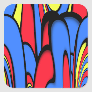 Bright  Colors Square Sticker