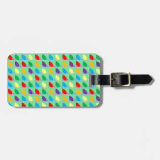 Bright Colors Triangle Pattern Travel Bag Tags