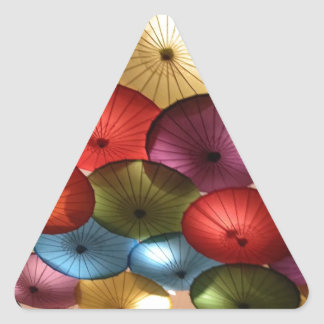 bright colors triangle sticker