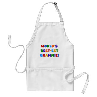 Bright Colors World's Best-est Grammie Gifts Adult Apron