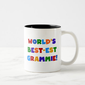 Bright Colors World's Best-est Grammie Gifts Two-Tone Coffee Mug